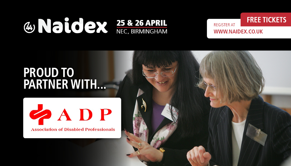 Naidex 44 are proud to partner with the ADP