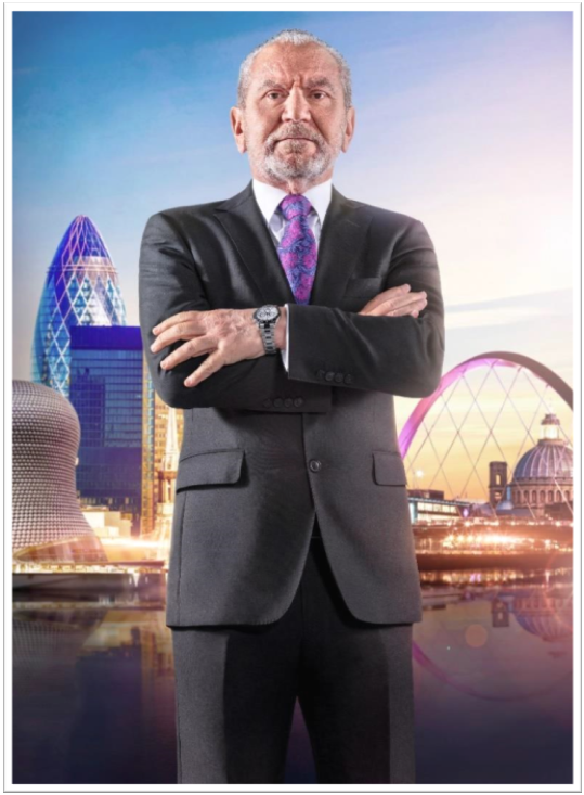 Lord Sugar from The Apprentice